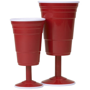 Wine Glass - Reusable Plastic Red Party Cups