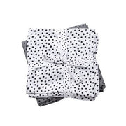 Done By Deer Burp Cloth 2 Pack Happy Dots Grey
