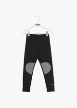 Papu Patch leggings kid, Black/stone grey