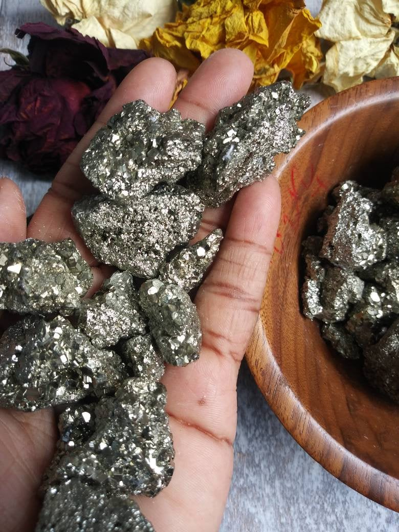Raw Pyrite Crystal. Birthstone. Stone of abundance