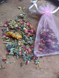 Heart Chakra Stones + Herbal Bag