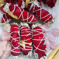 Sage + Rose Smudge Sticks