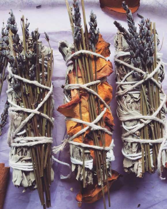Sage+Lavender+Rose Smudge Stick