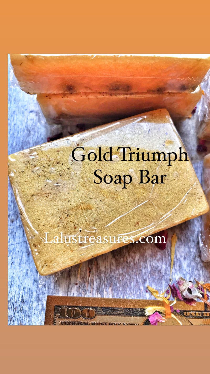 Gold Triumph Herbal Soap for Prosperity, Abundance, Achievement & Success