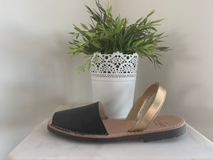 Benestar Sandals Australia CLASSIC BLACK / YELLOW GOLD