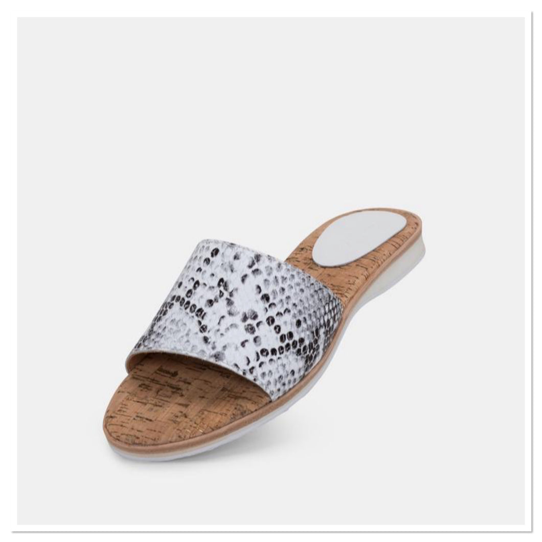 Rollie - Sandal Slide Grey Snake