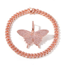Load image into Gallery viewer, Rose Butterfly Necklace