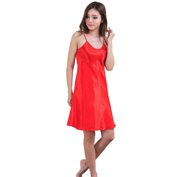 Nuisette en satin robe chambre orange