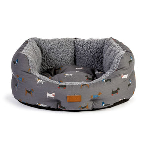 "FatFace ""Marching Dogs"" Deluxe Slumber Dog Bed"