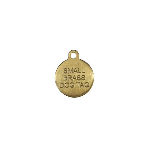 Small Brass Circle Pet Tag-Best4Bulldogs