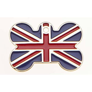 Union Jack Bone Pet Tag-Best4Bulldogs