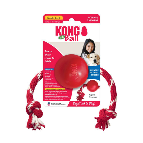 KONG Ball with Rope Dog Toy-Best4Bulldogs