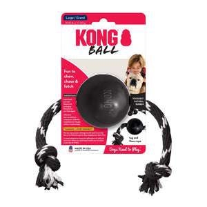 KONG Extreme Ball with Rope Dog Toy