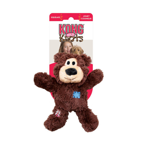 KONG Wildknots Bear Dog Toy (Extra Large)-Best4Bulldogs