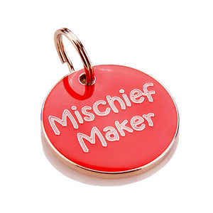 Mischief Maker Pet Tag-Best4Bulldogs