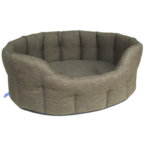 P&L Premium Heavy Duty Oval Basket Weave Dog Bed