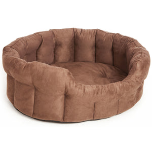 P&L Premium Heavy Duty Oval Faux Suede Dog Bed