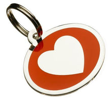 Load image into Gallery viewer, Coloured Heart Styled Oval Pet Tags