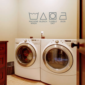 Laundry Symbols Wall Decal