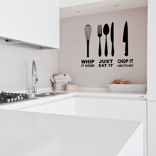 Whip It Chop It Kitchen Wall Decal