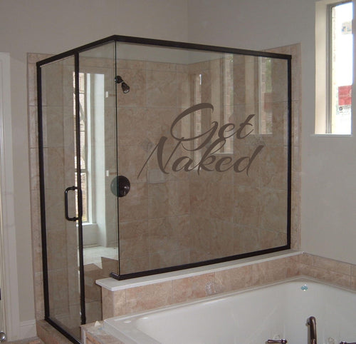 Get Naked Bathroom Wall Decal