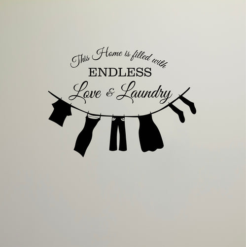 Love and Laundry Wall Decal