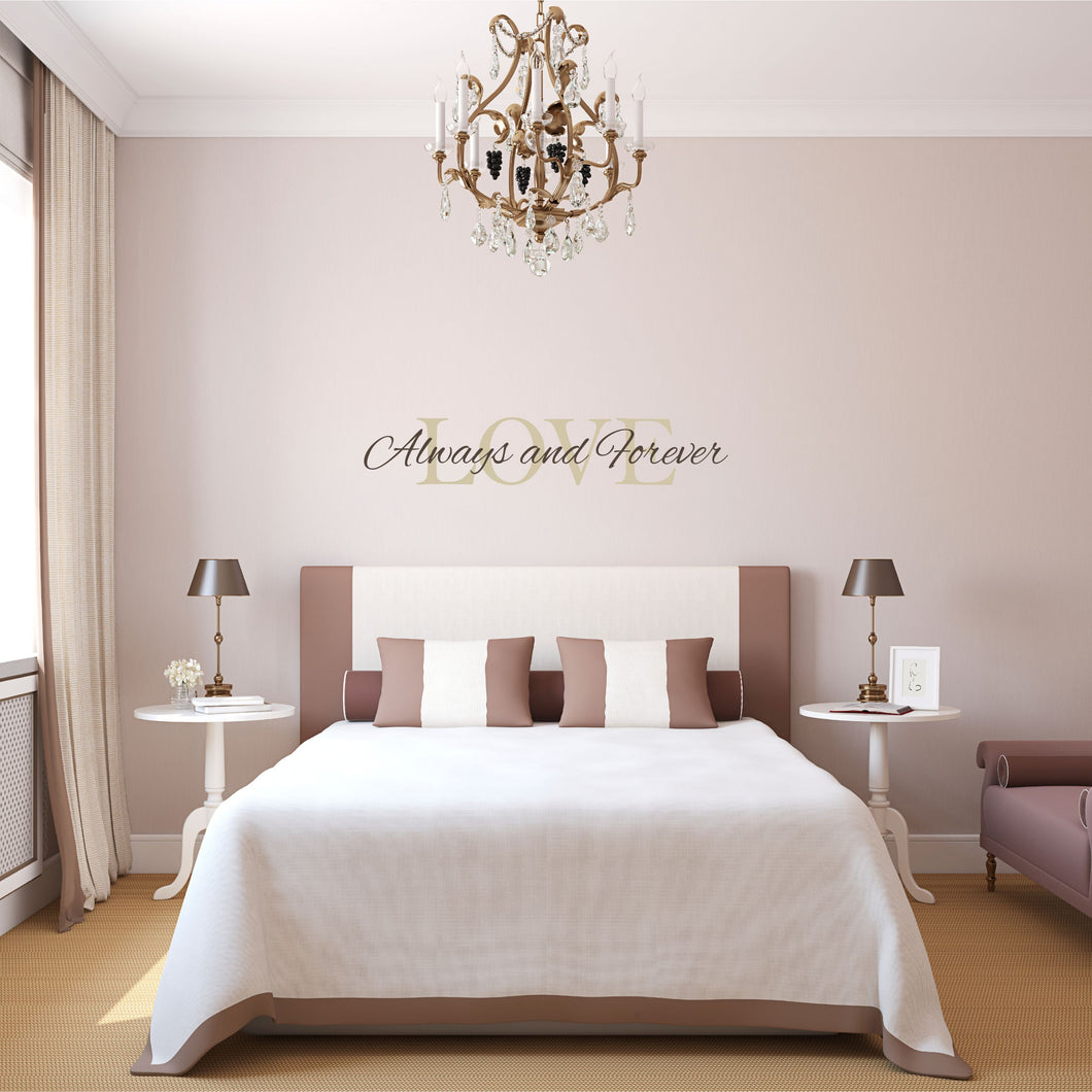 Love Always and Forever Wall Decal