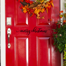 Load image into Gallery viewer, Merry Christmas Front Door Decal