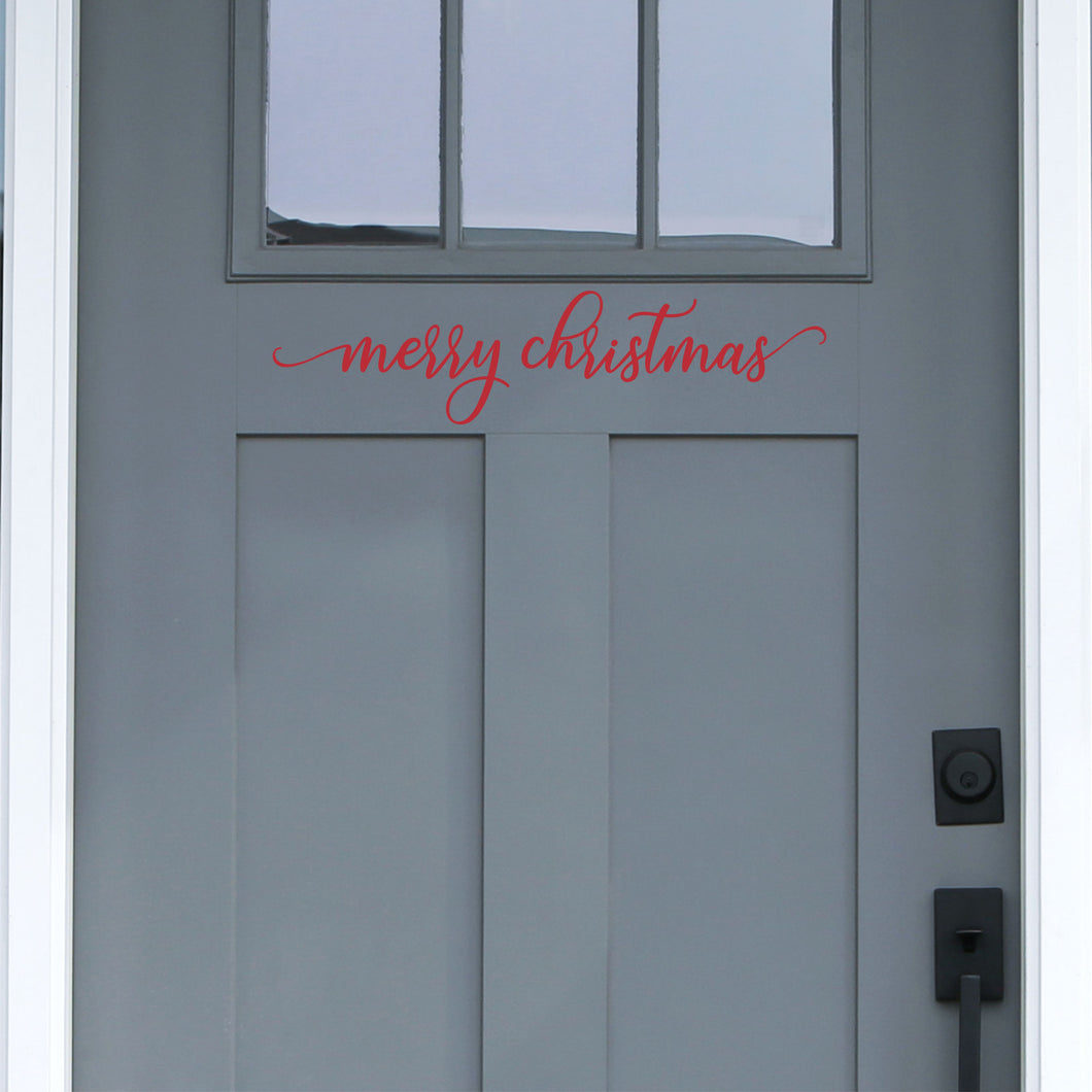 Merry Christmas Front Door Decal