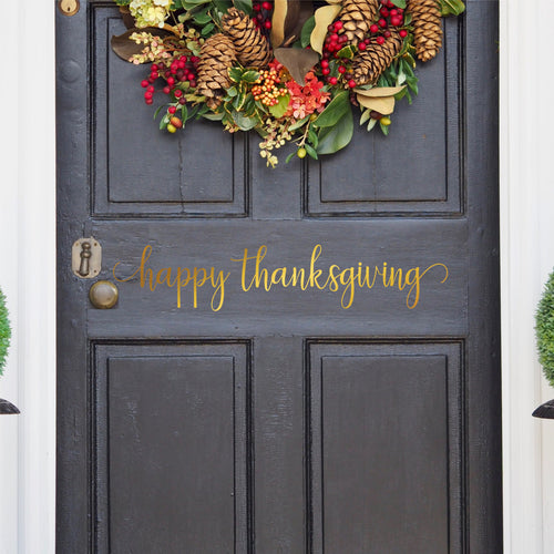 Happy Thanksgiving Front Door Decal