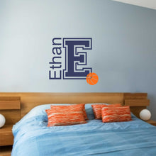 Load image into Gallery viewer, Personalized Name Basketball Wall Decal