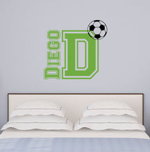 Load image into Gallery viewer, Personalized Name Soccer Wall Decal