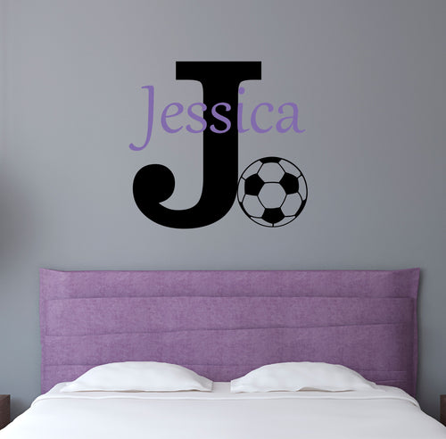 Personalized Name Soccer Wall Decal
