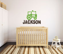 Load image into Gallery viewer, Personalized Name Farm Tractor Wall Decal