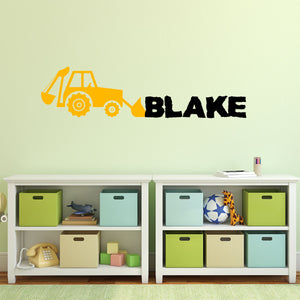 Personalized Name Construction Wall Decal