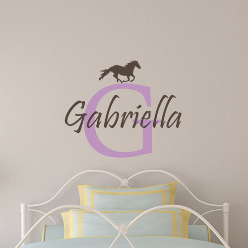 Personalized Name Horse Wall Decal