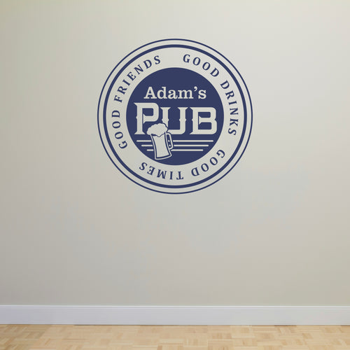 Personalized Pub Wall Decal