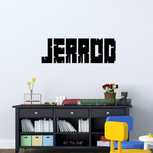 Personalized Name Gamer Wall Decal