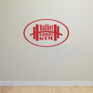 Personalized Gym Wall Decal