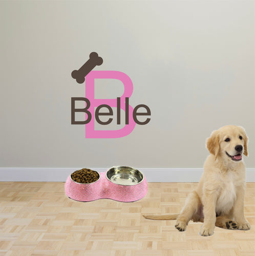Personalized Name Dog Wall Decal