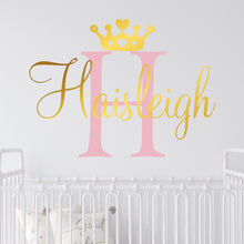 Load image into Gallery viewer, Personalized Princess Nursery Wall Decal