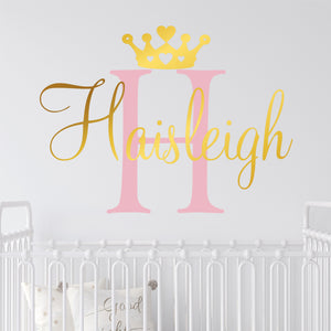 Personalized Princess Nursery Wall Decal