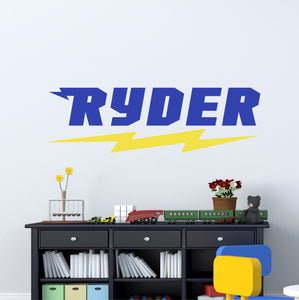 Personalized Name Superhero Wall Decal