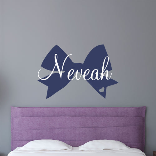 Personalized Name and Dancer Bow Wall Decal