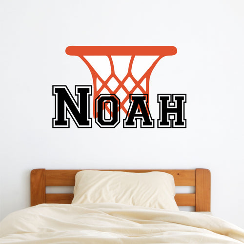 Personalized Name Basketball Hoop Wall Decal