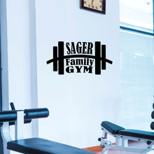 Load image into Gallery viewer, Personalized Gym Wall Decal