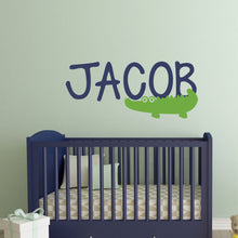 Load image into Gallery viewer, Personalized Name Alligator Wall Decal