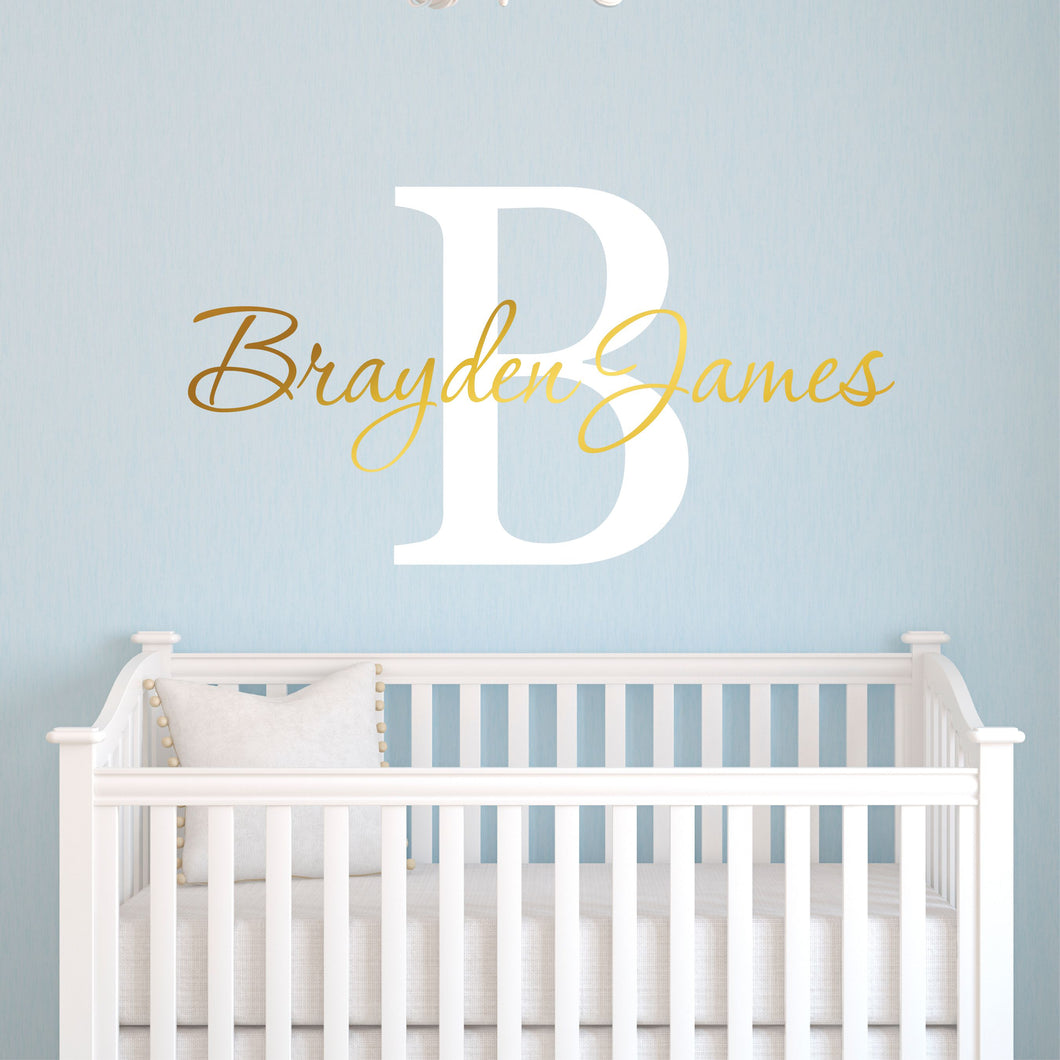 Personalized Name and Initial Wall Decal
