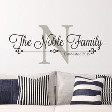Load image into Gallery viewer, Personalized Family Name Wall Decal