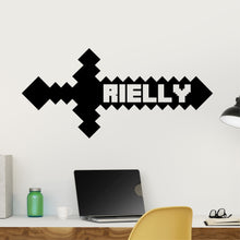 Load image into Gallery viewer, Personalized Name Mine Game Wall Decal